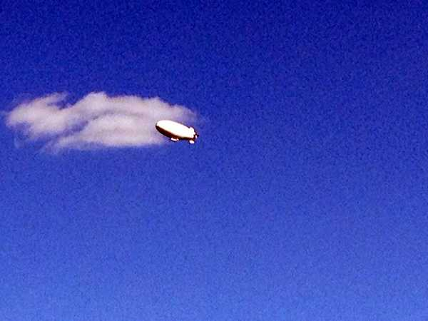 A U.S. Navy blimp was spotted floating above the Susquehanna Valley on Monday.
