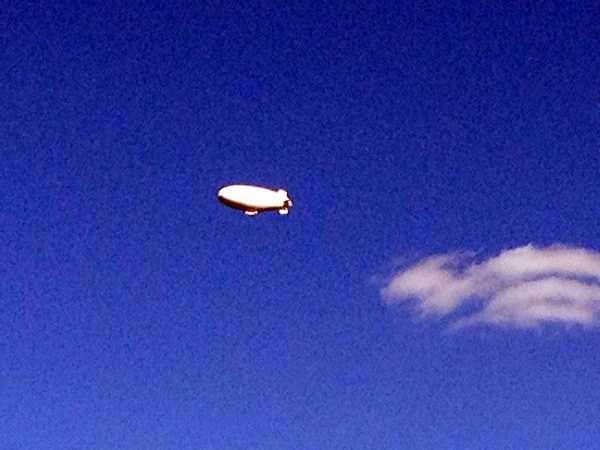 News 8's Ed Weinstock took these photos of the blimp flying over Lake Clarke between Lancaster and York counties.