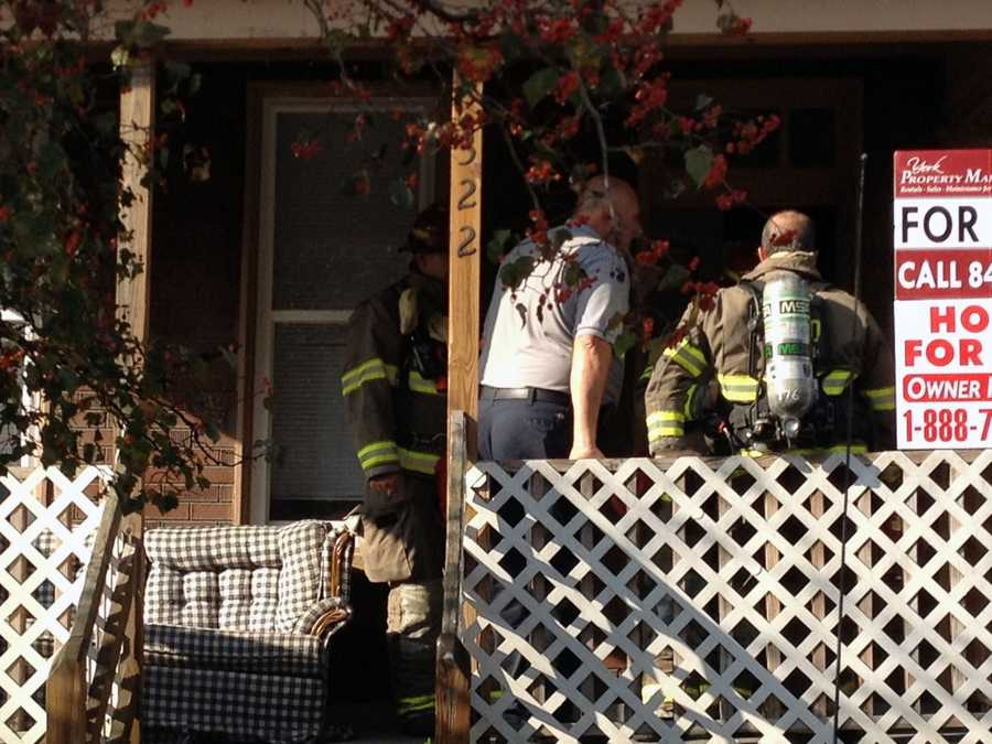 Firefighters were called to a York home Friday morning when U.S. Marshals serving a warrant spotted a smoke haze. The suspect was not at the home.