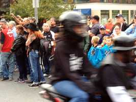 Hundreds of bikers left the York Expo Center on their way to Continental Square.