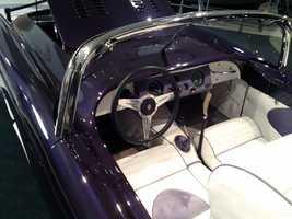 The car has a periscope rear-view mirror.