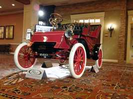 This is a 1903 Ford Model A. It's valued between $300,000 and $500,000.