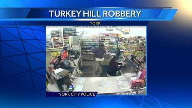 York police released this surveillance photo of the robbery suspect.