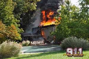 Fire damaged a home Wednesday in Manheim Township, York County.