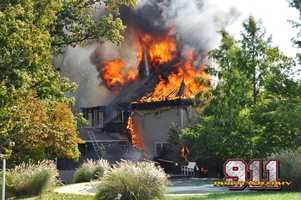 No one was hurt in the fire that broke out in the 3500 block of Baumgartner Road.