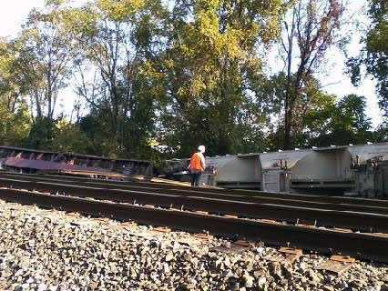 This is the scene of the train derailment.