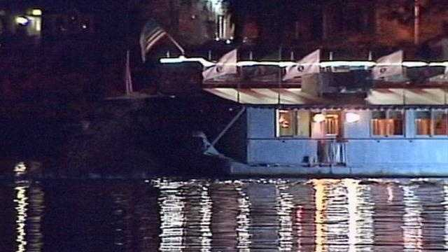 The Pride of the Susquehanna riverboat got stuck on a gravel bar about 7 p.m. Sunday in Harrisburg, officials said.