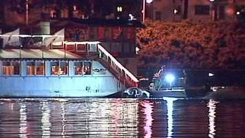 The captain tried to move the boat and the passengers were informed, officials said. River Rescue also tried to free the boat and then ferried the passengers to shore, they said.