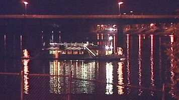 The boat was not damaged and no injuries were reported, officials said.The boat got stuck during a Fall Colors cruise.