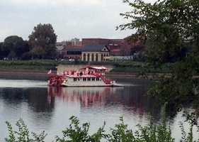A barge nudged The Pride loose Monday afternoon.The wine and cheese cruise scheduled for Monday night had to be cancelled.