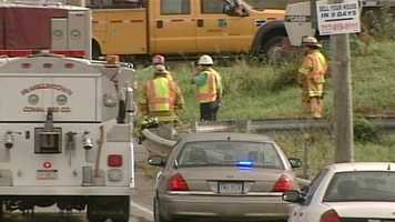 A fiery crash in York County claimed at least one life Monday afternoon.