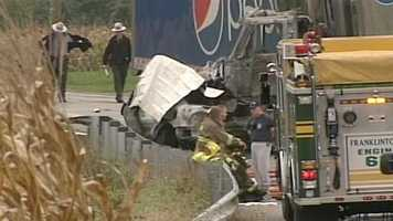 The crash happened around 2 p.m. on Route 194 and Leathery Road in Washington Township.