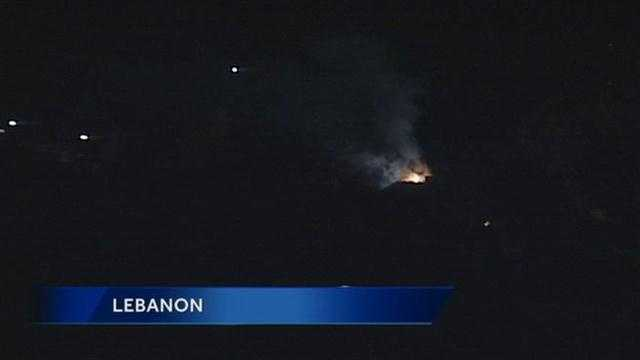 This is a view of the fire from News 8's Lebanon skycam.