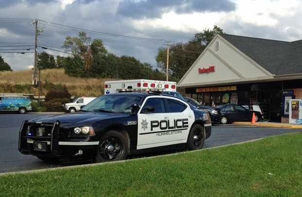 A car crashed into a Turkey Hill on Thursday.