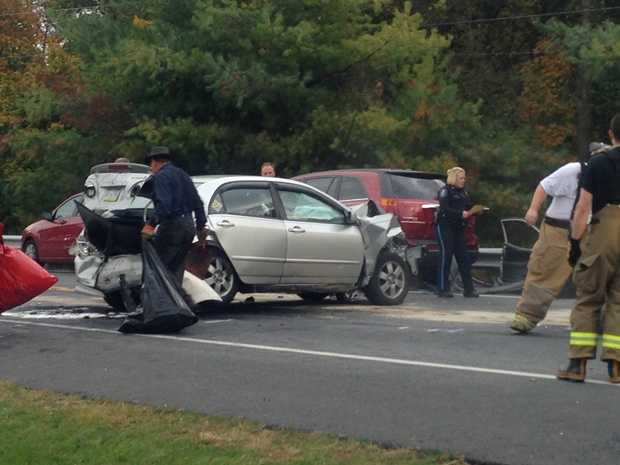 The crash happened in the 2300 block of Route 72 in West Cornwall Township.
