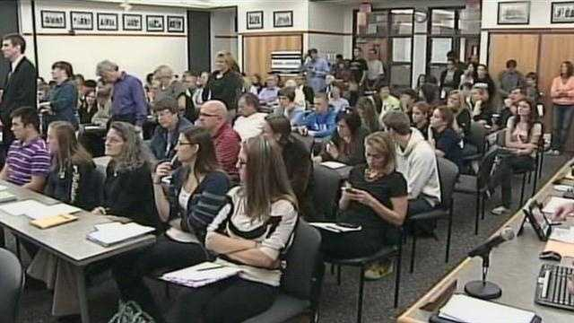 Parents packed Wednesday night's Chambersburg School Board meeting.