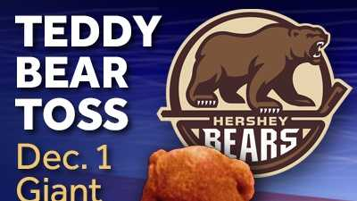Join WGAL 8 at Giant Center in Hershey on December 1 for the Teddy Bear Toss for CMN!