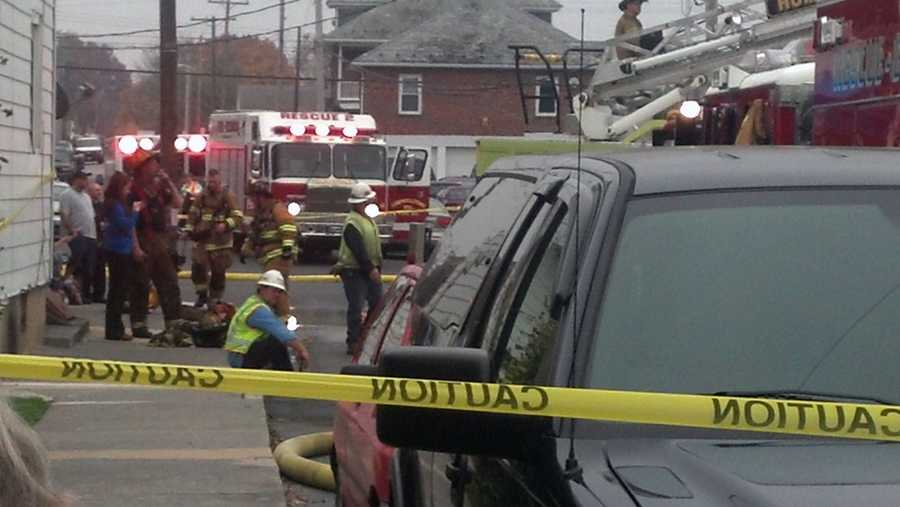 The blaze started in 205 West Main Street and caused damage to 207 West Main Street.
