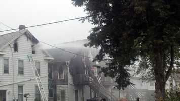 More than 12 people were burned out of their homes.