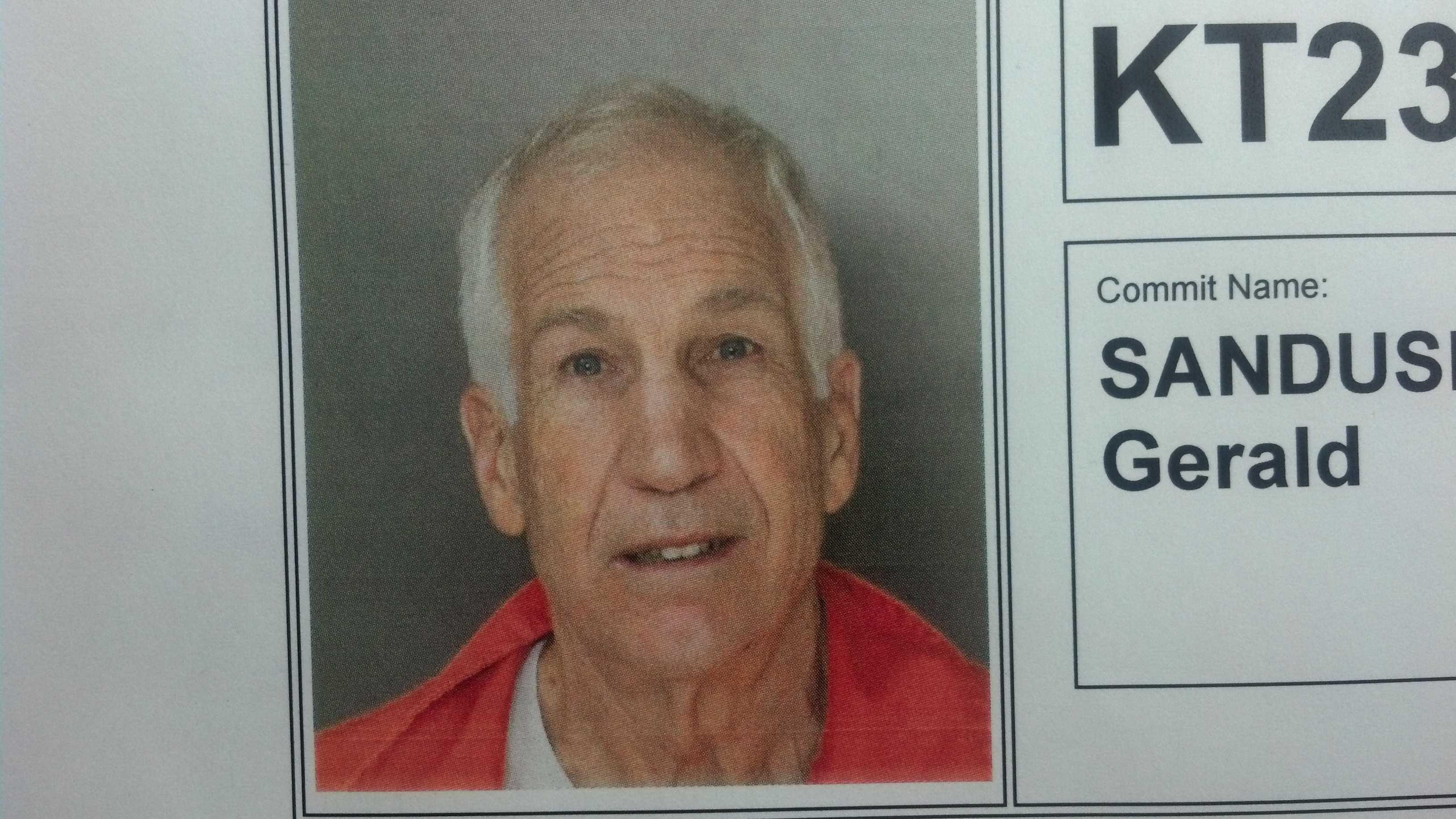 Jerry Sandusky's prison mug shot.
