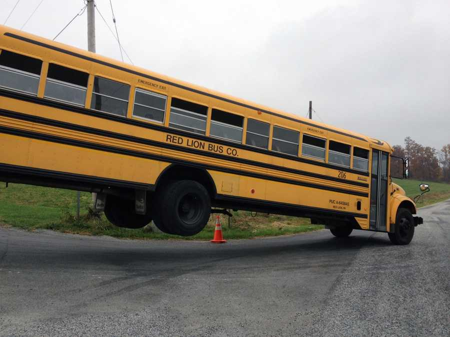 State police said a distracted school bus driver crashed his vehicle Friday morning in York County, injuring two children.
