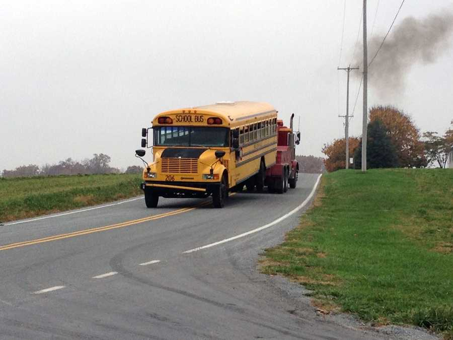 The students, who were between 10- and 12-years-old, were being transported to an Amish school. The driver will be cited.