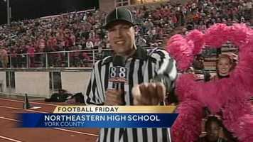Mike Straub dresses as a replacement NFL referee.