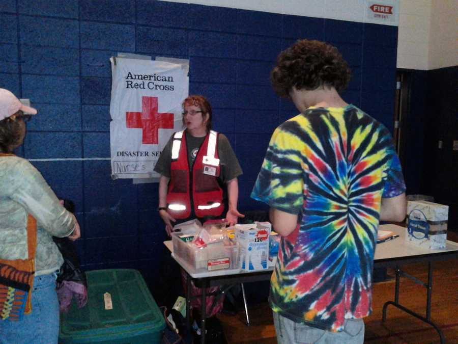 Monday: American Red Cross shelter at Manheim Township Middle School