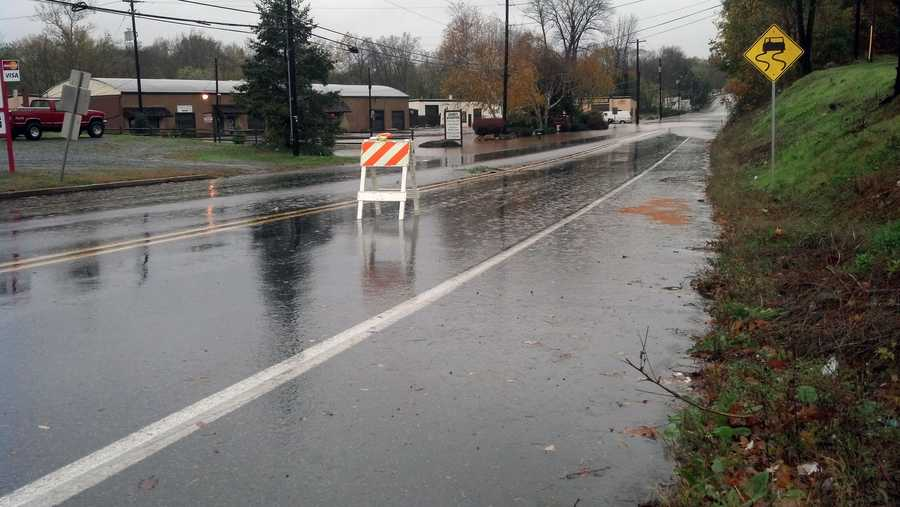 Tuesday: Pitney Road in Lancaster city is closed due to flooding.