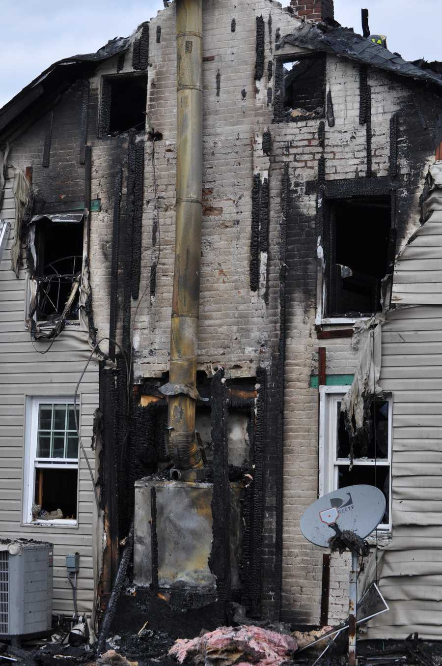 A fire burned a building on Hoffman Home Road near Gettysburg on Friday.