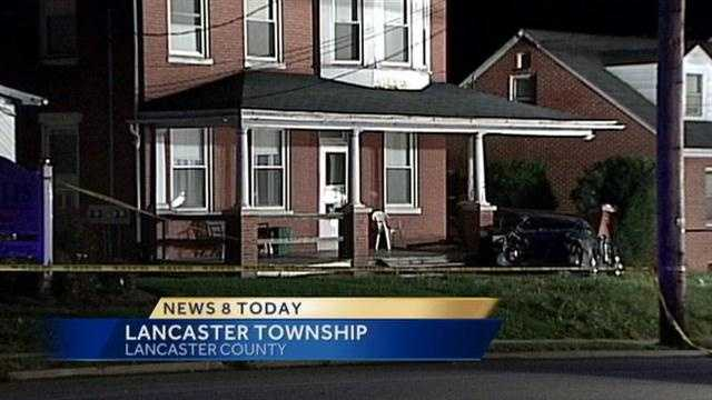 Two people were taken to Lancaster General Hospital Sunday after their car went into a Lancaster Township house.