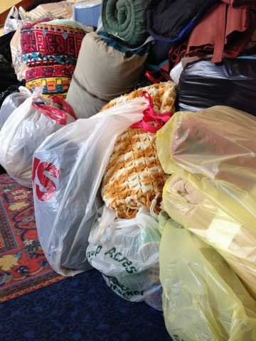 People can drop off items until 2 p.m. on Thursday.