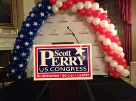 Scott Perry's Congressional campaign is camped at the Yorktowne Hotel.