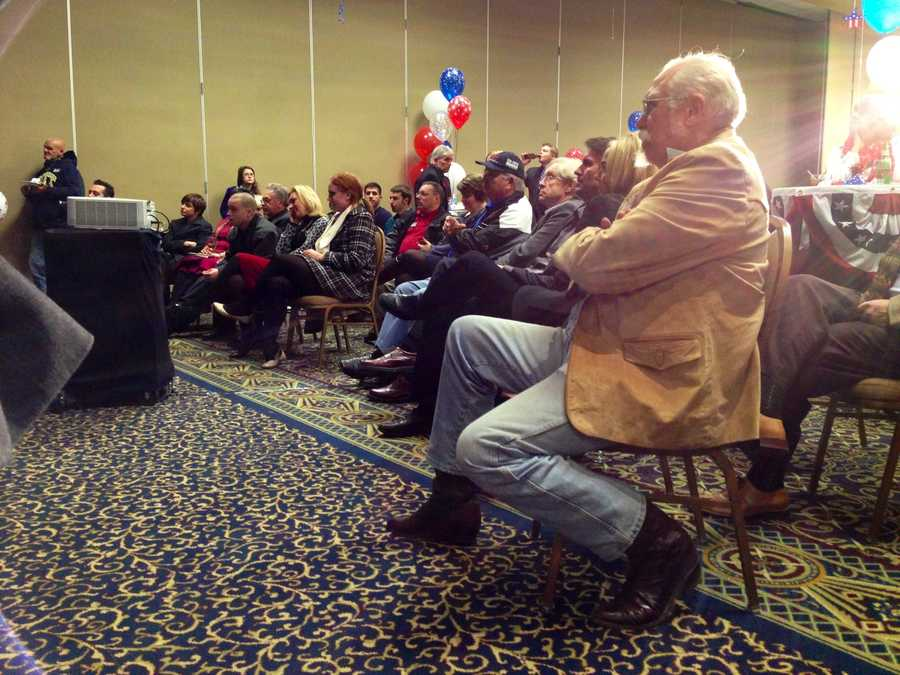 Supporters gather at the Tom Smith campaign headquarters.