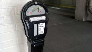 One meter is located in the Prince Street garage at the Orange Street elevator exit and the other is located in the Penn Square garage at the walkway to the convention center.