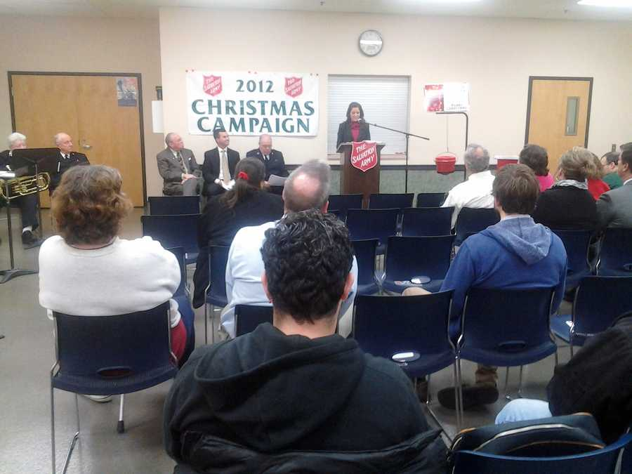 The Salvation Army's goal is to raise $192,000, which will help families in need this holiday season.