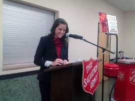 News 8's Julie Gargotta helped kick off the 2012 Christmas Campaign, which leads to WGAL's annual Coats for Kids telethon that will air on Dec. 14.