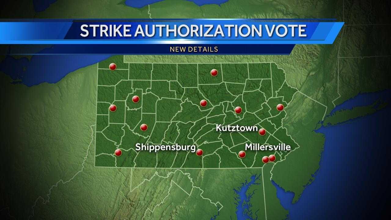 University strike map