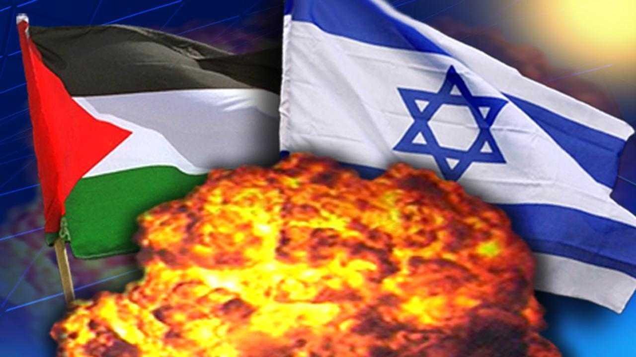 Israel Palenstine flag graphic