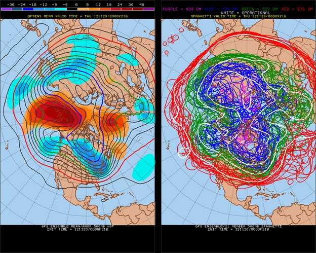 Cold air remains in the east next Wednesday.