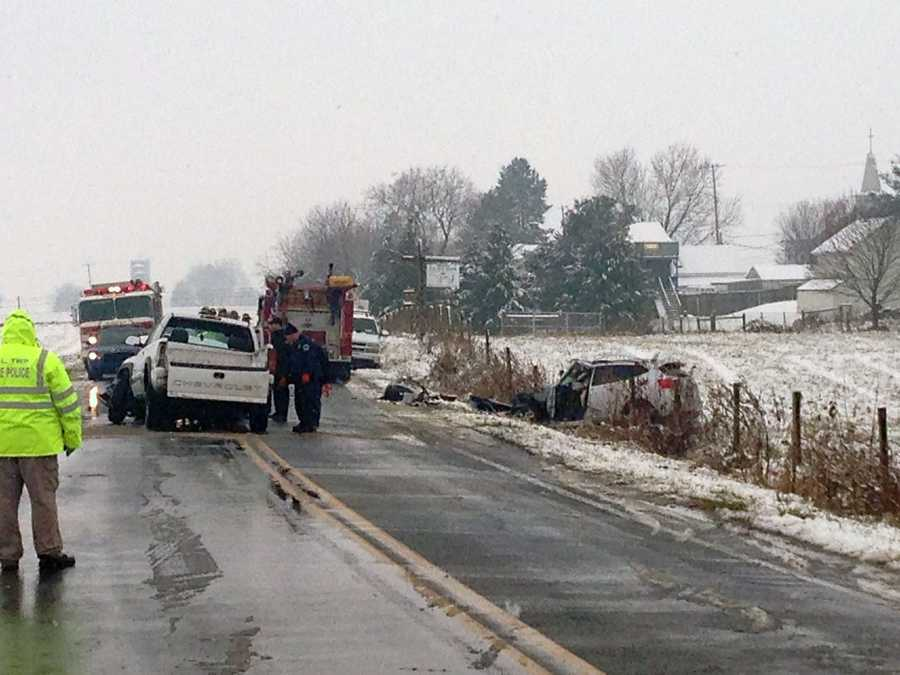 A head-on crash happened Tuesday morning in North Cornwall Township, Lebanon County.