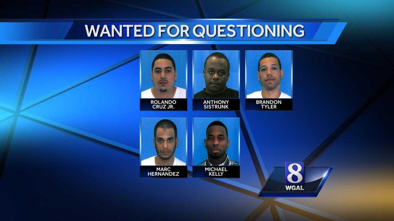 5 wanted for questioning