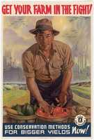 Food conservation was a consistent message during World War II, as shown in this poster from 1942.