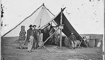 The Civil War saw the introduction of some new foods for soldiers. Fresh beef wasn't always available, so calorie-rich Borden's Condensed Milk and other canned foods were introduced.