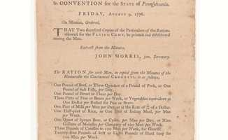 One of the first documented instances of American influence on what people eat may go all the way back to the Revolutionary War. This document, dated Aug. 9, 1776, promised generous rations to men who enlisted in the military.