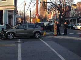 Two vehicles collided in Lancaster on Wednesday afternoon.