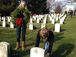 Last year, 800 wreaths were placed on graves at the cemetery