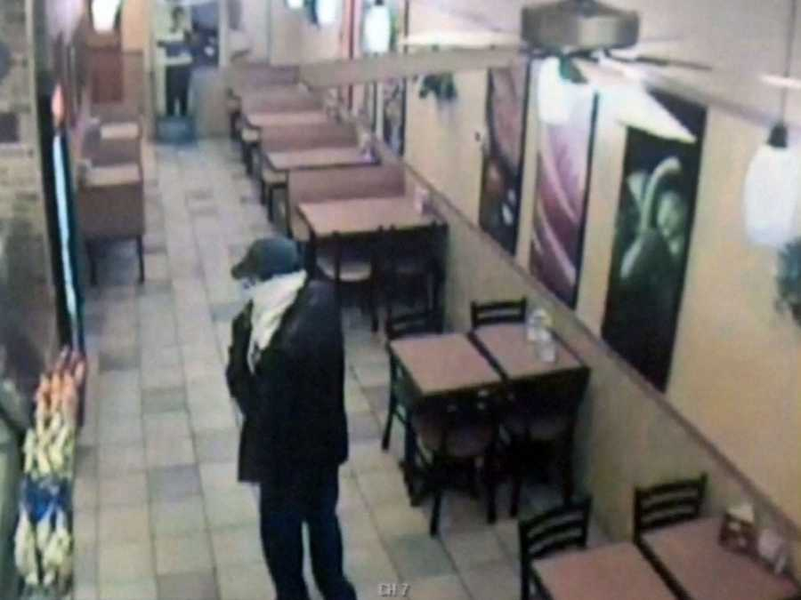 This is a surveillance image from the Subway in the Windsor Park Shopping Center in Lower Allen Township.
