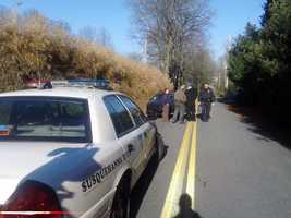 The women were walking along the road when they were struck.
