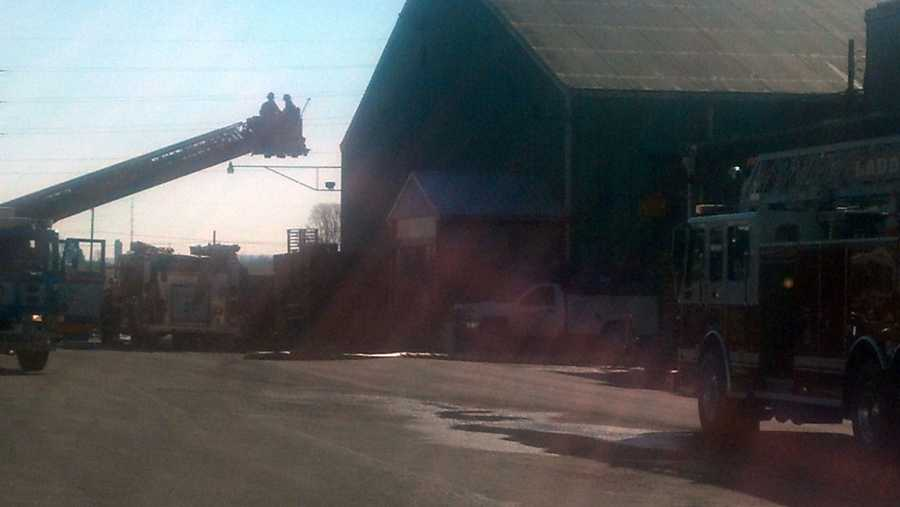 No one was injured in a fire Thursday morning at a Lebanon fertilizer company.